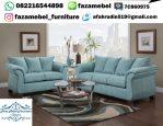 Kursi Tamu Sofa Warna Biru Terbaru