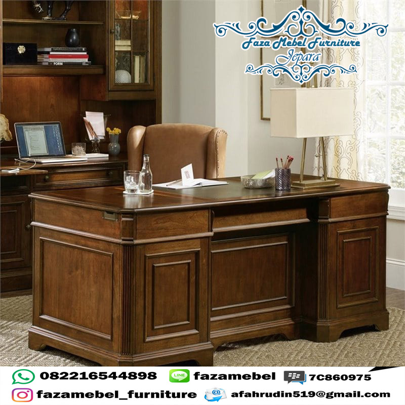 model-meja-kerja-kayu-jati-terbaru