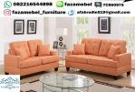 Kursi Tamu Sofa Warna Orange Terbaru