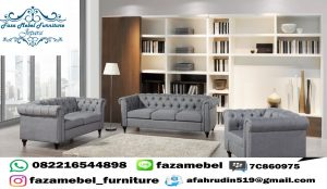 Set Kursi Tamu Sofa Chester Terbaru