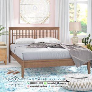 Tempat Tidur Minimalis Modern Kayu