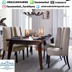 Set Meja Makan 4 Kursi Sofa Minimalis