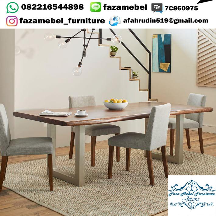 Set-Meja-Makan-Kaki-Stainless-Kursi-Sofa