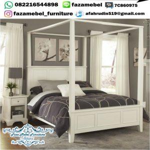 Tempat Tidur Minimalis Modern Warna Putih