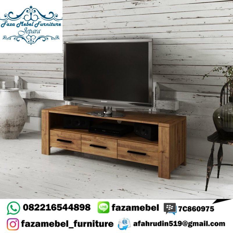 Bufet-TV-Kayu-Jati-Unik