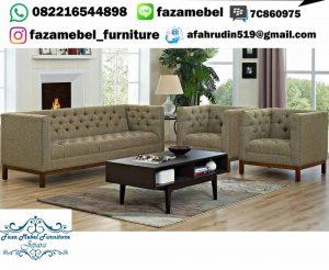 Set Kursi Tamu Sofa Retro Terbaru