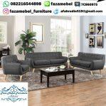 Set Kursi Tamu Sofa Ruang Tamu Model Retro Terbaru